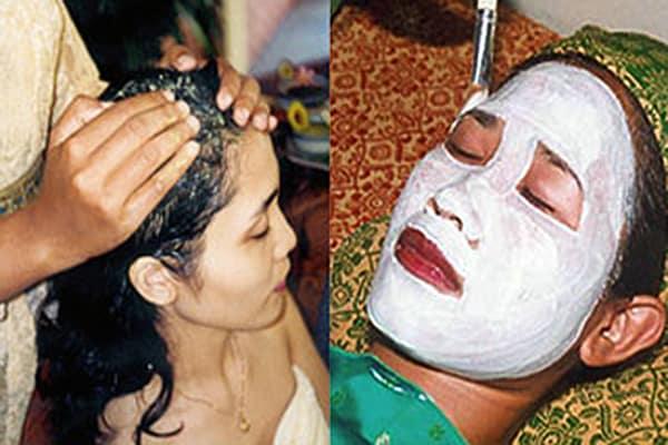 facial and hair spa